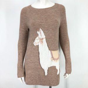 LC Lauren Conrad XS Llama Sweater Tunic